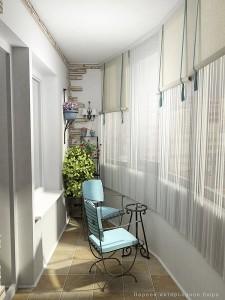 exemplu amenajare loc de baut cafeaua balcon mic semicerc