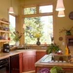 exemplu bucatarie rustica chiuveta colt