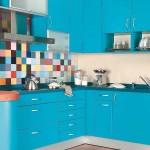 faianta multicolora pentru bucatarie albastru turcoaz