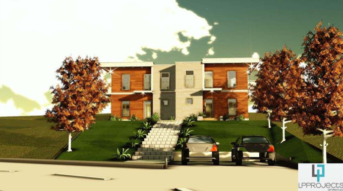 fatada 1 proiect locuinta bifamiliala 266 mp
