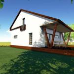 fatada 3 proiect casa 153 mp
