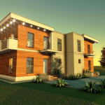 fatada 4 proiect locuinta bifamiliala 266 mp