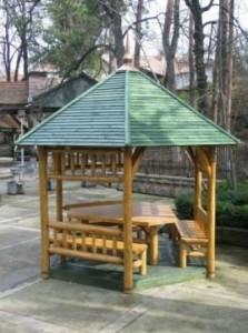foisor pavilion gradina hexagonal