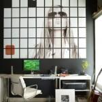 fotografie supradimensionata tip puzzle compusa din mai multe tablouri mici interior modern high tech