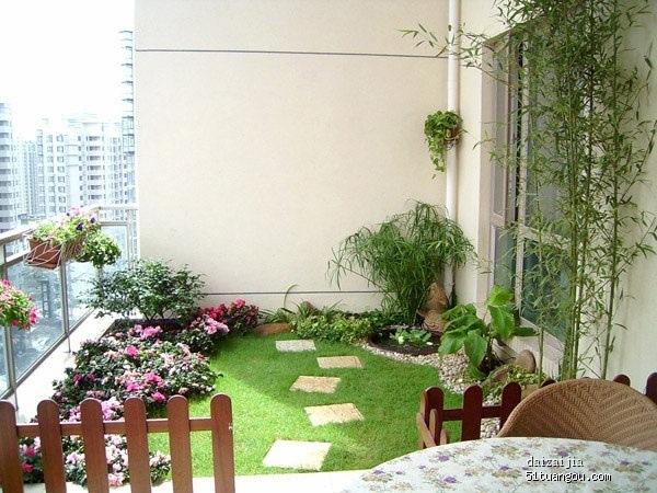 gazon flori si alee dale piatra gradina balcon mic bloc