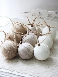 globuri handmade invelite in panza stil rustic scandinav