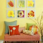 grup de tablouri colorate inspirate de primavara