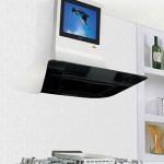 hota de bucatarie cu televizor integrat in tub evacuare marca ilve model vela range