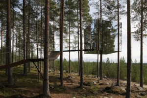 Hotelul invizibil din copac – Treehotel din Suedia