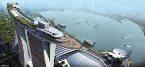 Un proiect spectaculos, hotelul Marina Bay Sands din Singapore
