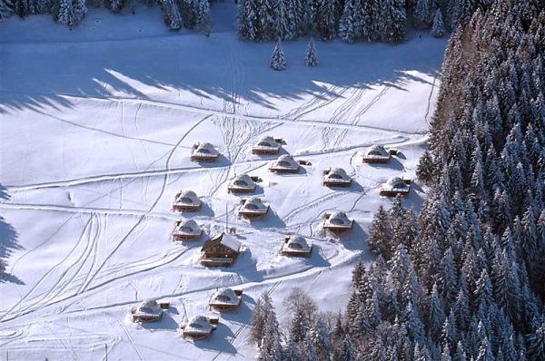 hoteluri whitepod iarna