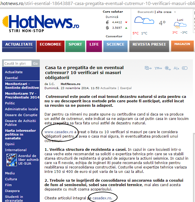 hotnews preia casadex