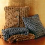 huse pernute decorative din pulovere vechi lana