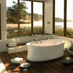 idee amenajare baie lux cada stativ forma ovala