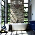 idee amenajare baie moderna decor piatra naturala