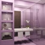 idee amenajare baie moderna mov