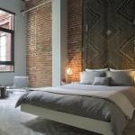 idee amenajare dormitor modern decorat cu caramida
