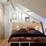 idee amenajare dormitor modern mic mansarda