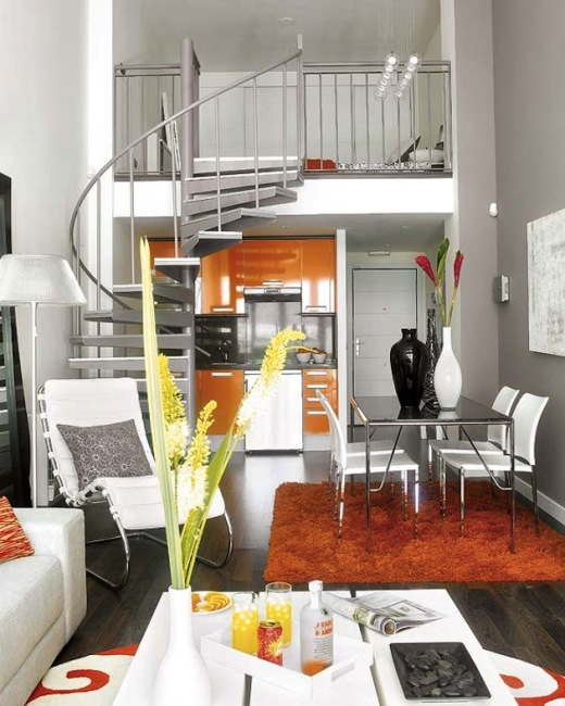idei amenajare apartament mic scara interioara