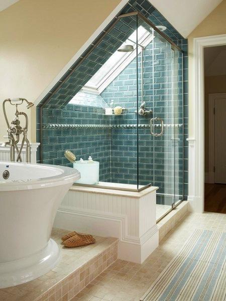 amenajare baie mare idei amenajare baie mansarda cu cada si cabina mare dus :: CasaDex  amenajare baie mare