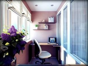 idei amenajare birou in balcon garsoniera sau apartament
