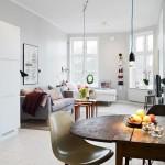 idei amenajare bucatarie si living open space stil scandinav garsoniera
