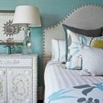 idei amenajare dormitor alb si bleu stil maritim