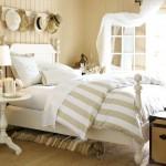 idei amenajare dormitor in stil rustic decor alb