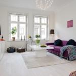 idei amenajare living apartament stil scandinav