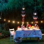 idei amenajare masa in aer liber cina romantica in gradina casei