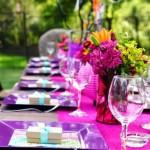 idei decor roz si lila petrecere botez zi de nastere sau nunta in aer liber