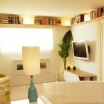 idei depozitare spatii mici rafturi pentru carti montate sub tavan