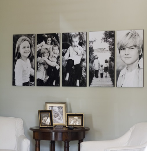 idei expunere poze familie perete