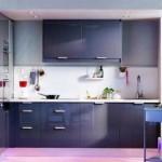 idei mobila bucatarie culoare bleumarin design modern