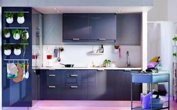 Idei Mobila Bucatarie Culoare Bleumarin Design Modern Casadex
