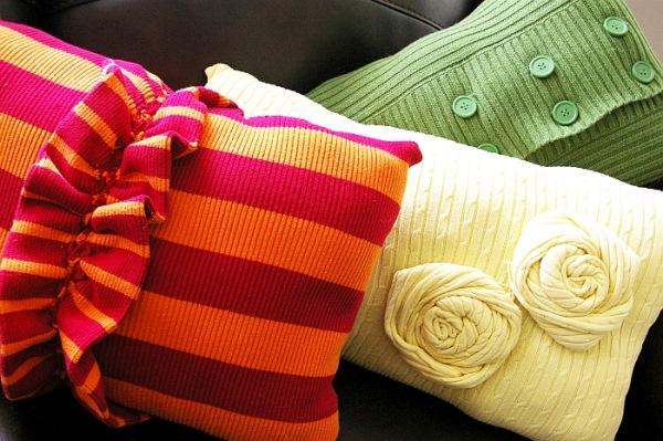 idei perne decorative din pulovere vechi reciclate