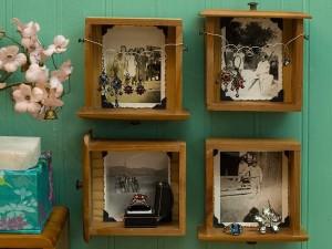 idei transformare sertare vechi in rafturi decorative