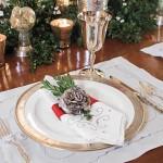 inel decorativ pentru servetele masa festiva craciun