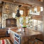 interior bucatarie rustica stil italian