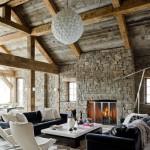 interior casa amenajata stil rustic mobilier modern minimalist