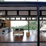 interior casa structura metalica