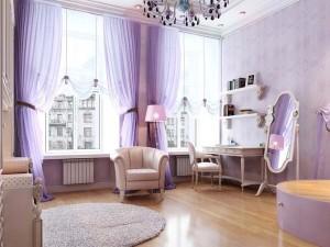 interior culoare lavanda