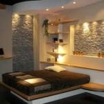 interior dormitor modern decor piatra naturala