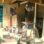 interior garaj inainte de transformare in casa