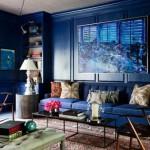 interior living amenajat si decorat in albastru culoarea anului 2014