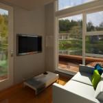 interior living modern casa prefabricata
