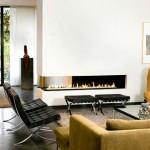 interior living modern minimalist cu semineu