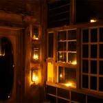 interior noaptea casuta lemn din ferestre vechi