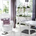 jardiniere albe stil shabby chic