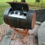 lada frigorifica rustica din butoaie vechi de lemn